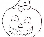 Coloriage Halloween Citrouille stylisé