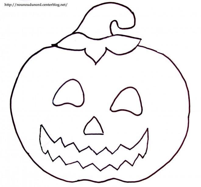 Coloriage et dessins gratuits Halloween Citrouille stylisé à imprimer