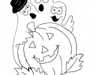 Coloriage et dessins gratuit Halloween en ligne à imprimer