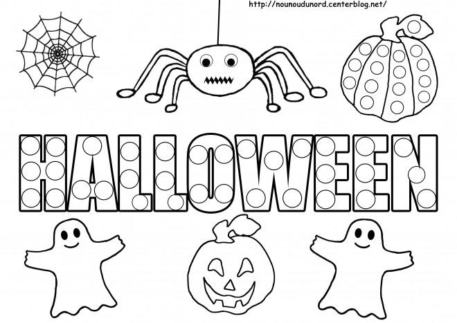 Coloriage halloween enfants dessin gratuit imprimer - Dessins a imprimer halloween ...