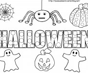Coloriage dessin  Halloween enfants facile