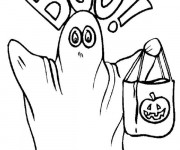 Coloriage Halloween fantôme maternelle