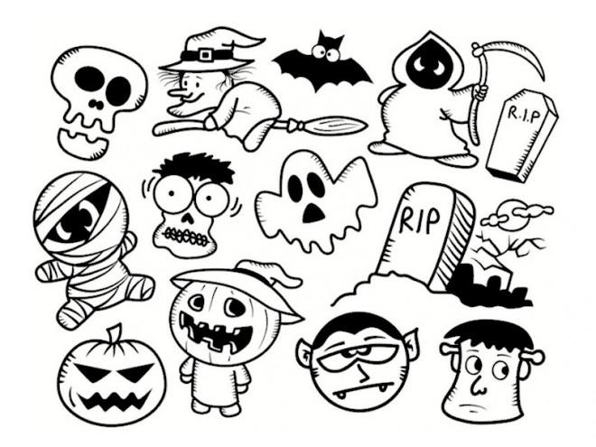 Coloriage Halloween Pour Enfant Dessin Gratuit à Imprimer