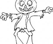 Coloriage et dessins gratuit Halloween qui fait peur à imprimer