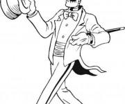 Coloriage et dessins gratuit Halloween Squelette avec classe à imprimer