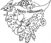 Coloriage et dessins gratuit Joyeuse Halloween 2 à imprimer