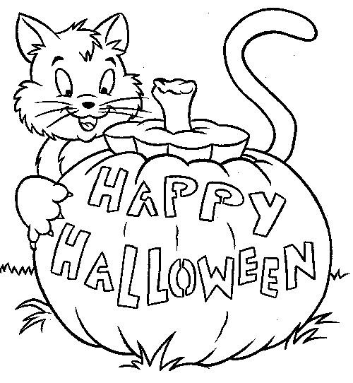 Coloriage et dessins gratuits Joyeux Halloween à imprimer