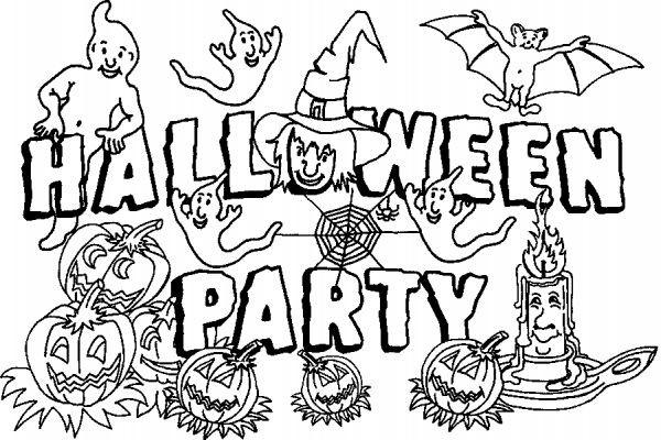 Coloriage et dessins gratuits Party Halloween à imprimer