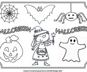 Coloriage Personnages Halloween facile