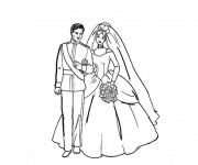Coloriage Couple Mariage