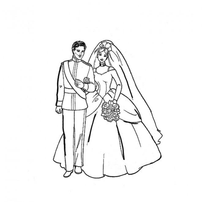 coloriage couple mariage dessin gratuit imprimer. Black Bedroom Furniture Sets. Home Design Ideas