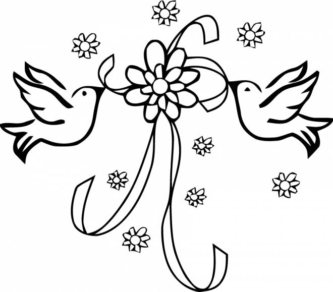 Coloriage dessin colombes pour mariage dessin gratuit imprimer - Coloriage mariage a imprimer ...