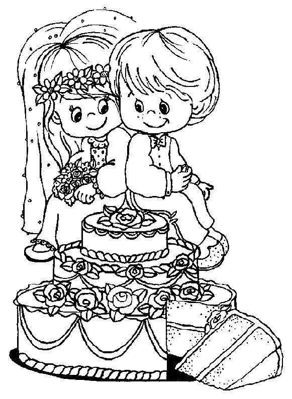 Coloriage enfants mignons et mariage dessin gratuit imprimer - Coloriage mariage a imprimer ...
