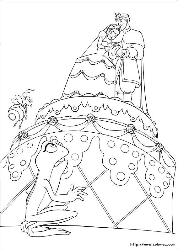 Coloriage et dessins gratuits Énorme Gâteau de Mariage à imprimer