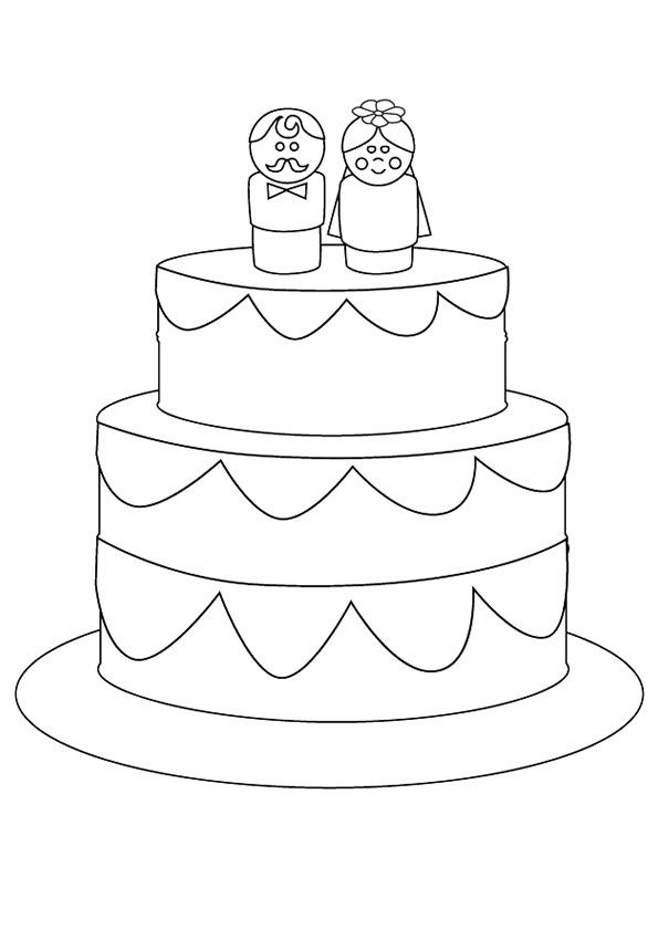Zeemeermin Kleurplaat Spelletjes Coloriage G 226 Teau Avec De Mariage Simple Dessin Gratuit 224