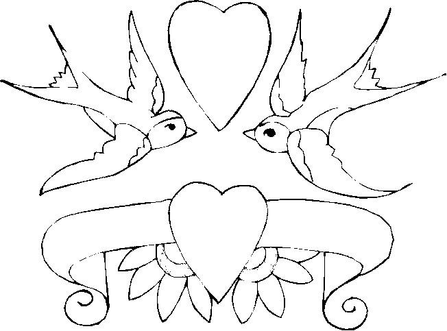 Coloriage et dessins gratuits Illustration de Mariage adorable à imprimer