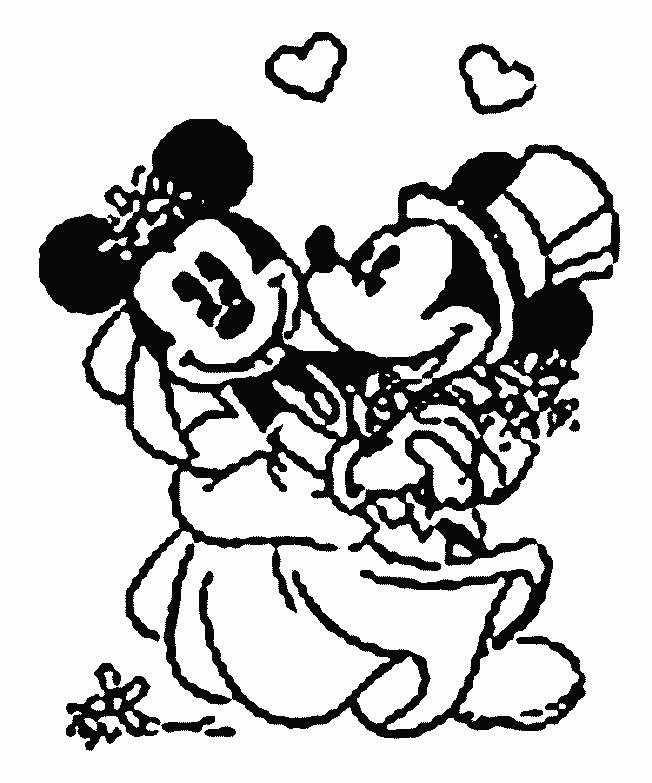 Coloriage et dessins gratuits Le Mariage de Mickey Mouse à imprimer