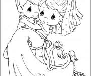 coloriage mariage colorier - Dessin Mariage