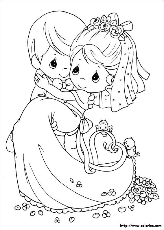 Coloriage et dessins gratuits Mariage à colorier à imprimer