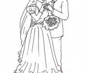 Coloriage Mariage Adulte facile