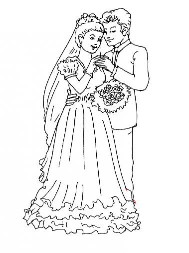 Coloriage et dessins gratuits Mariage Adulte facile à imprimer