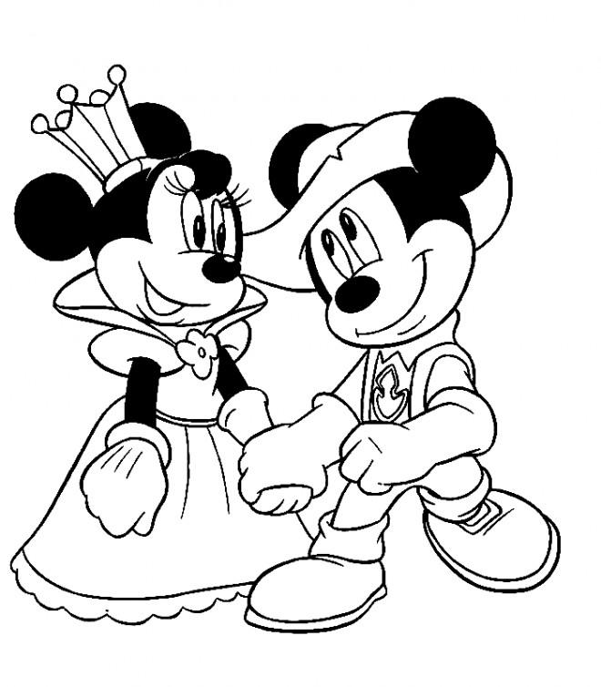 Coloriage mariage de mickey walt disney dessin gratuit imprimer - Coloriage mariage a imprimer ...