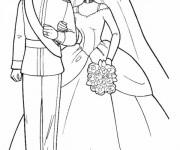 Coloriage Mariage de Prince