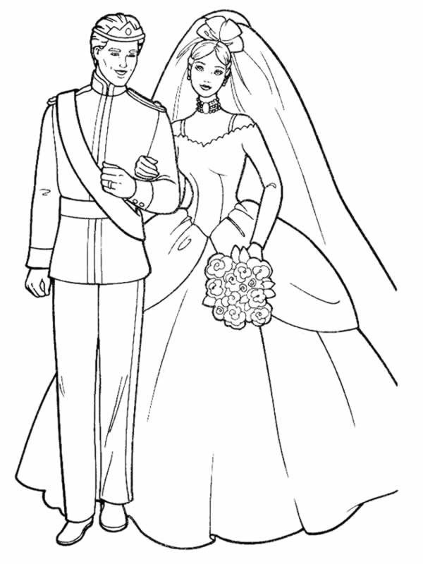 coloriage mariage de prince dessin gratuit imprimer. Black Bedroom Furniture Sets. Home Design Ideas