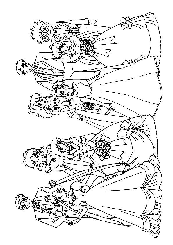 Coloriage et dessins gratuits Mariage dessin animé à colorier à imprimer