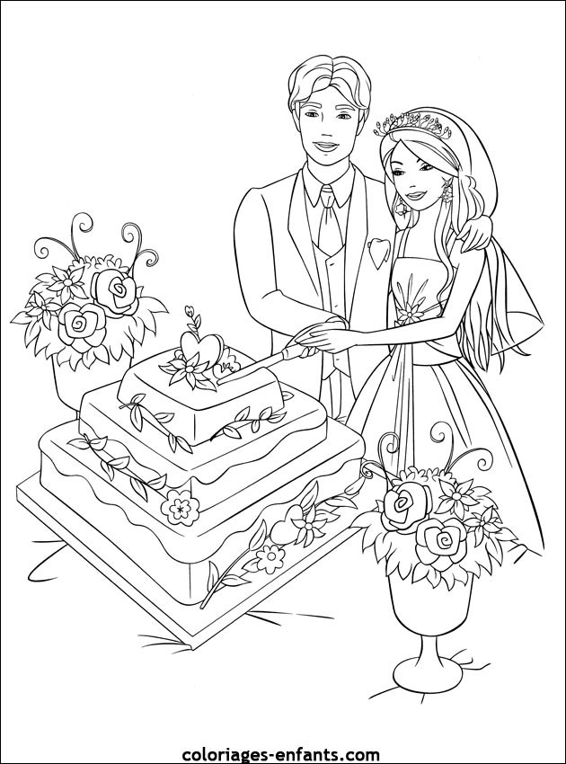 coloriage mariage disney dessin gratuit imprimer. Black Bedroom Furniture Sets. Home Design Ideas