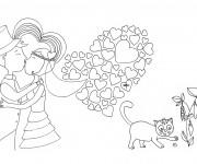 Coloriage Mariage et Amour