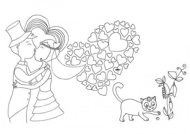 Coloriage et dessins gratuits Mariage et Amour à imprimer