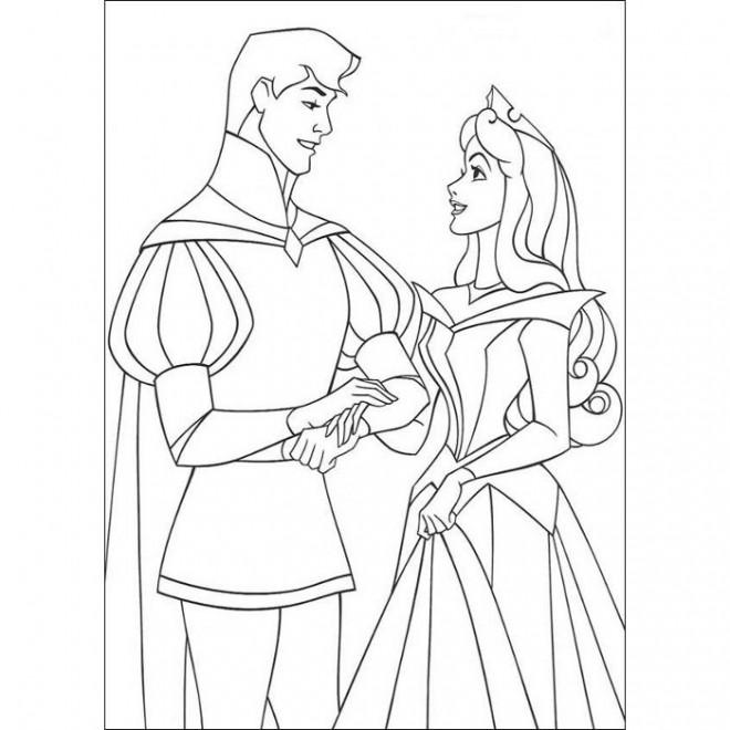Coloriage et dessins gratuits Mariage stylisé à imprimer