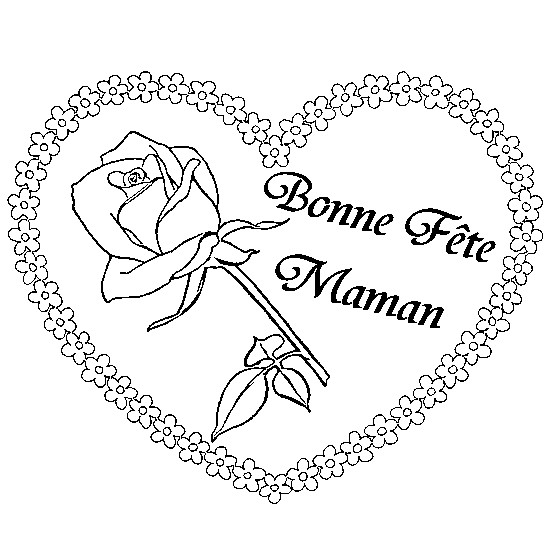 Coloriage Meilleurs Voeux pour Maman dessin gratuit à imprimer