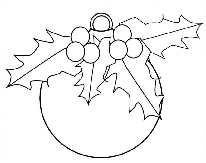 Coloriage et dessins gratuits Boule de Noël à imprimer