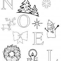 Coloriage et dessins gratuit Carte de Noël à imprimer