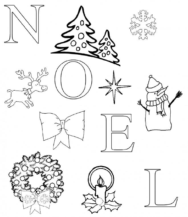 Coloriage et dessins gratuits Carte de Noël à imprimer