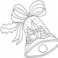 Coloriage et dessins gratuit Cloche de Noël à imprimer