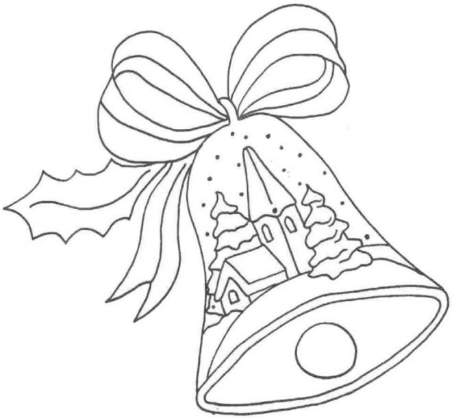 Coloriage et dessins gratuits Cloche de Noël à imprimer