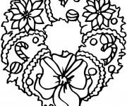 Coloriage et dessins gratuit Couronne de Noël à imprimer