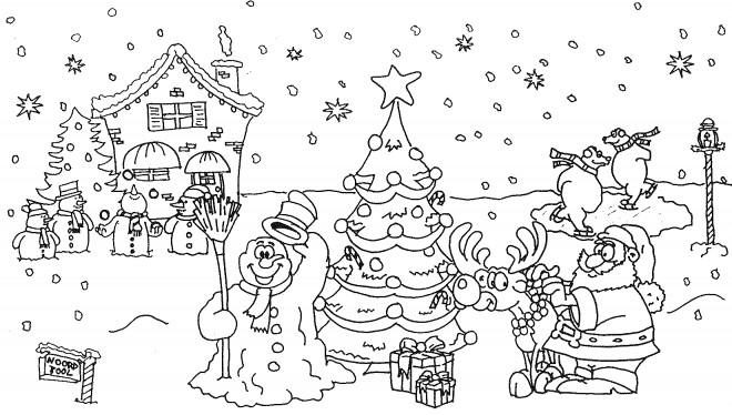 Coloriage Décor de Noël dessin gratuit à imprimer