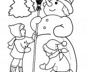 Coloriage et dessins gratuit Dessin bonhomme de neige à imprimer