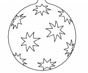 Coloriage Dessin boule de Noël simple