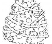 Coloriage et dessins gratuit Dessin sapin de Noël à imprimer