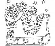 Coloriage et dessins gratuit Dessin traineau du Père Noël à imprimer