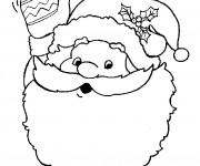 Coloriage Figure du Père Noël