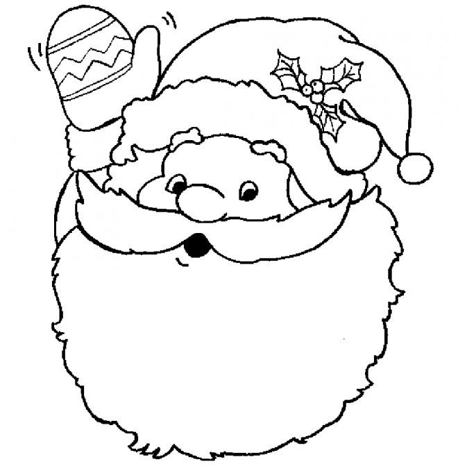 Coloriage et dessins gratuits Figure du Père Noël à imprimer