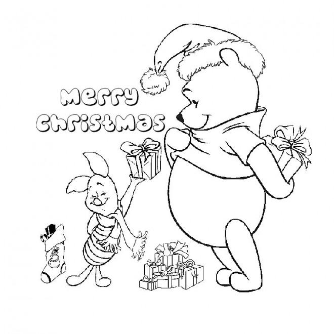 Coloriage Joyeux Noel De Winny L Ourson Dessin Gratuit A Imprimer