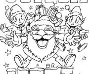 Coloriage et dessins gratuit Joyeux Noël des lutins à imprimer