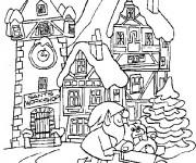 Coloriage et dessins gratuit L'atelier du Père Noël à imprimer